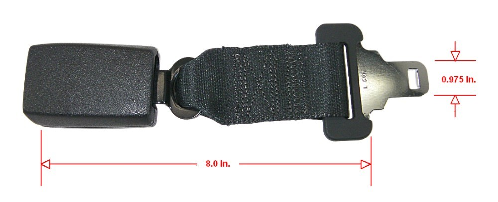 Ford Genuine Parts F7UZ-15611C22-AAJ Seat Belt Extension