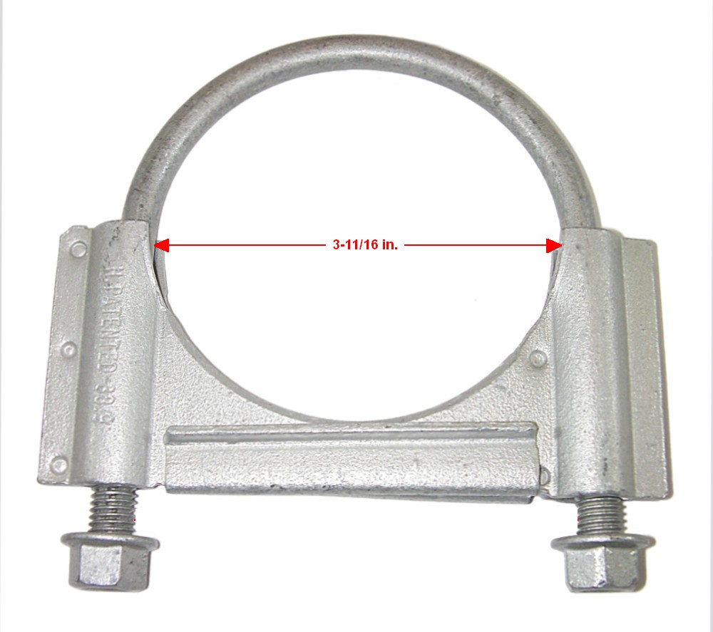 Genuine GM 15748648 3 11/16 in. ID Exhaust Pipe/Muffler Clamp