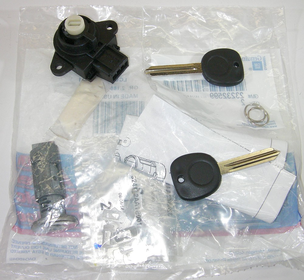 Genuine GM 23237274 Ignition Lock Cylinder Kit w/ Key