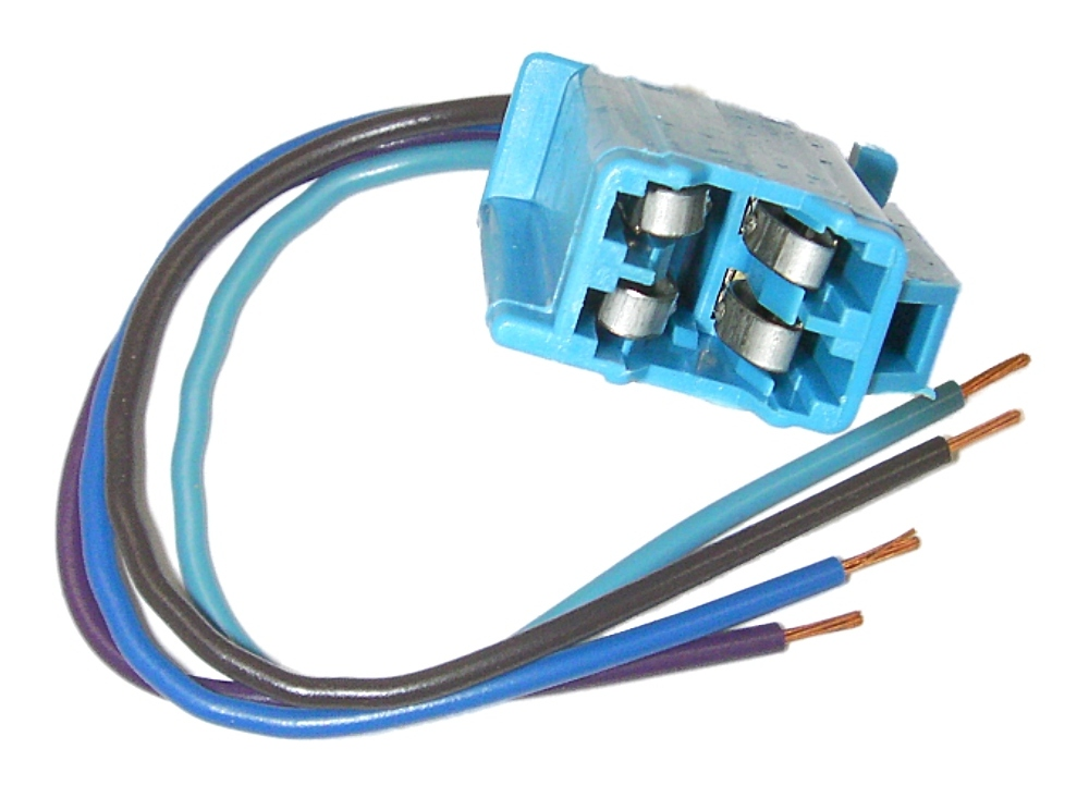 Parts Master 84004 4-Wire Blue Speaker Pigtail Connector for GM ...